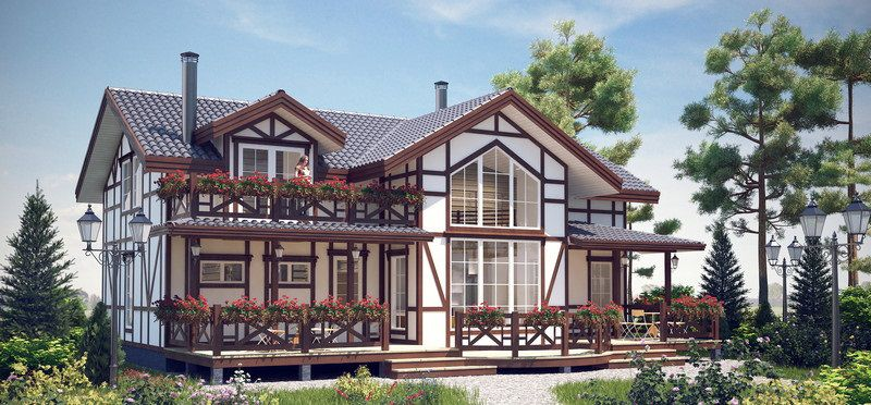 Финский дом в стиле фахверк