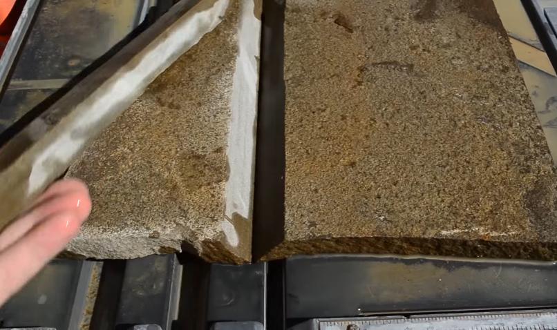 Камни для стыковни во внутренних углах запиливаются аналогично