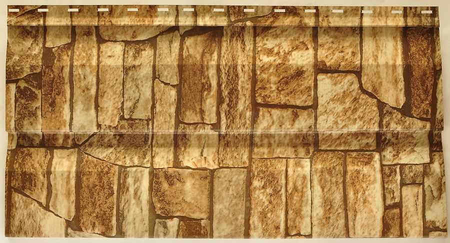 Панель металлического сайдинга имитирует каменную кладку
