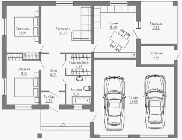 Первый этаж, план