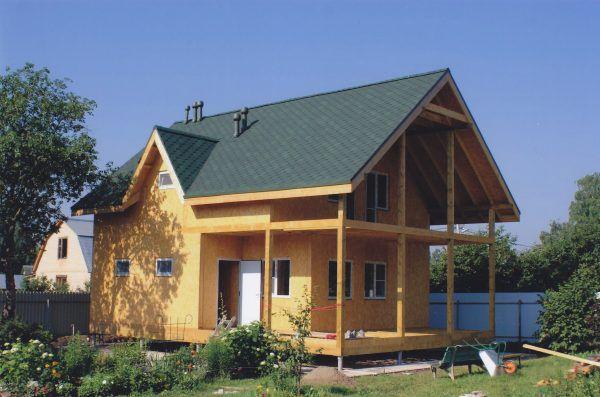 Для отделки фасада каркасного дома использование фасадной плитки с креплениями - это просто находка