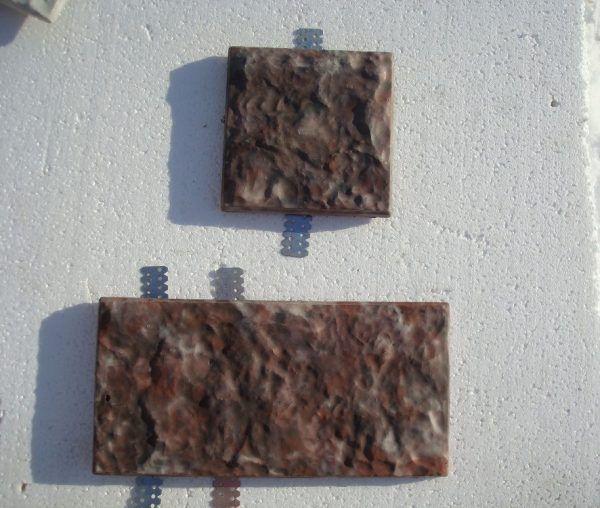 Фасадная плитка с металлическими креплениями Балканский камень