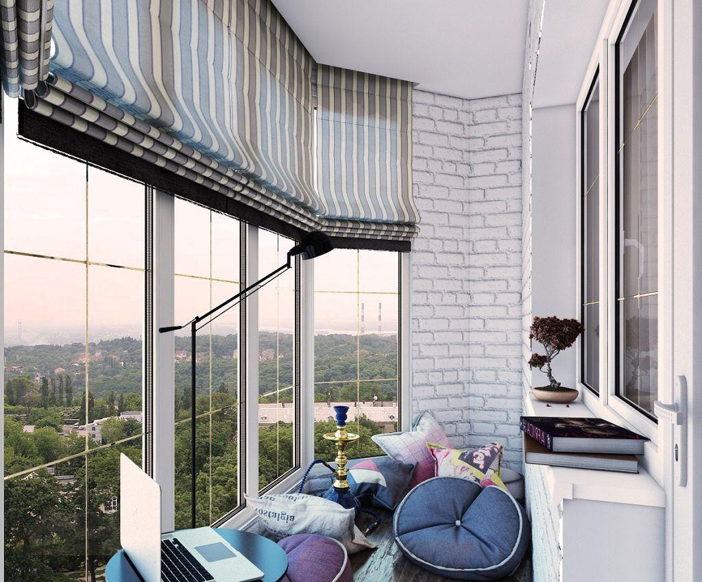 Идея для оформления балкона