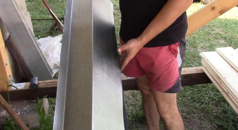 Как загибать оцинкованный лист своими руками 78
