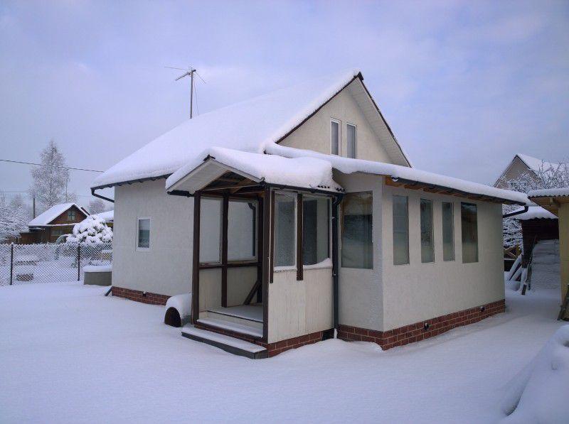 Каркасный дом с обшивкой плитами ОСБ спустя несколько сезонов после строительства
