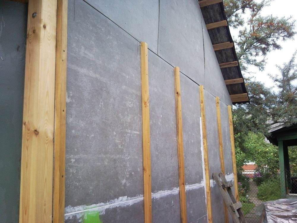 Обшивка стены цементно-стружечной плитой