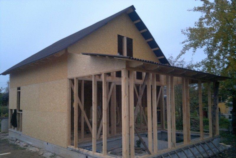 Продолжение монтажа ОСП панелей на фасад