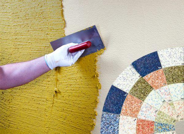 Декоративное покрытия стен своими руками 58