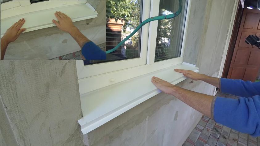 Как сделать сливы на окнах 450