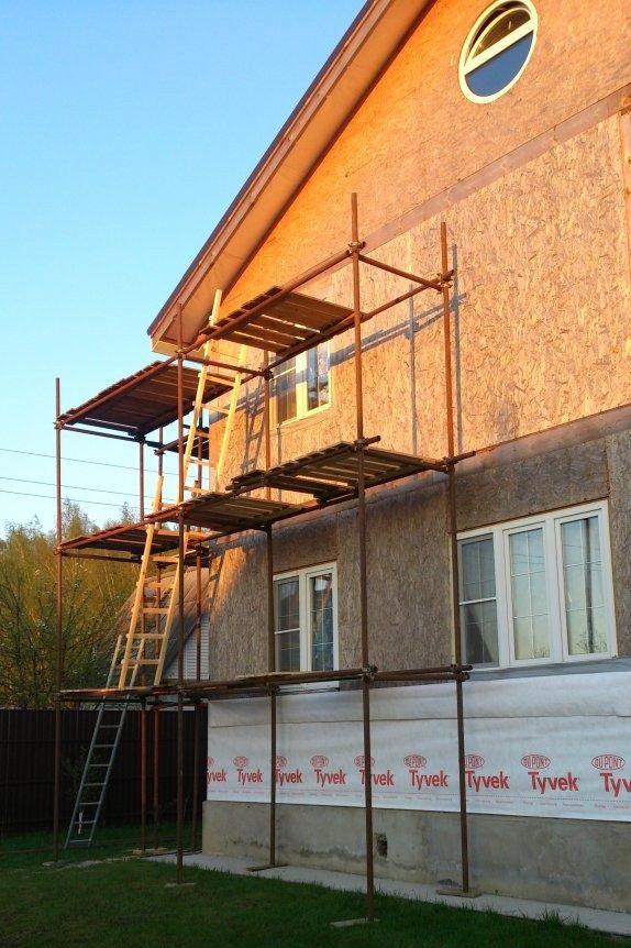 Для двухэтажного дома (как в нашем примере) потребуется вот такая конструкция