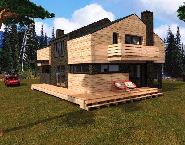 Дом в стиле модерн - оригинальный проект
