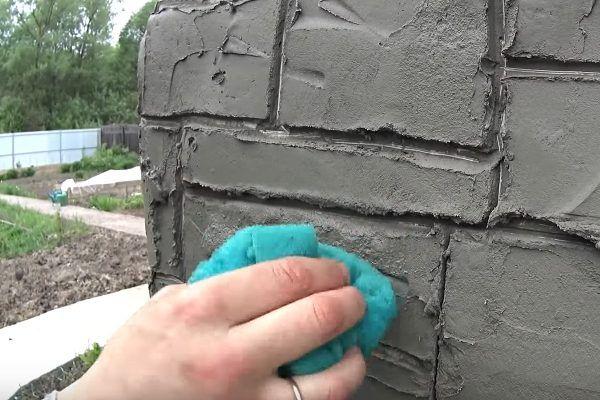 Формирование текстуры камня с помощью губки