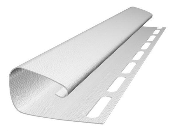 J-профиль для сайдинга 3050 мм NORDSIDE, белый
