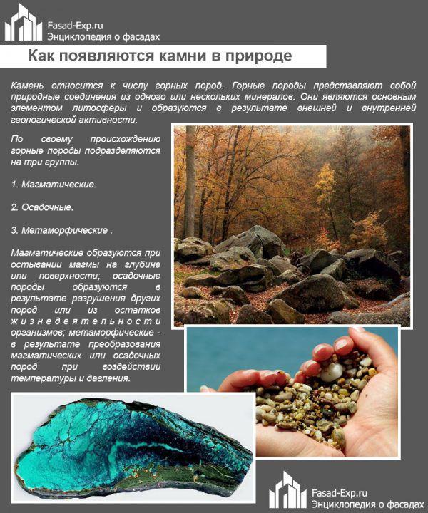 Как появляются камни в природе