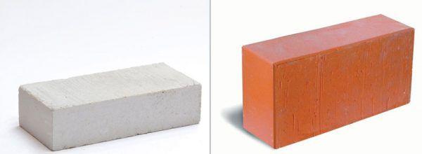 Полнотелые силикатный и керамический кирпичи
