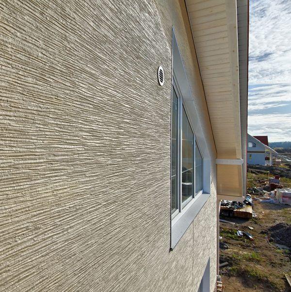 Пример отделки фасада панелями KMEW