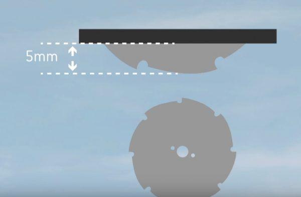Расположение диска циркулярной пилы