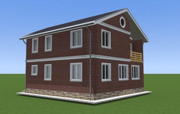 Так будет выглядеть дом из СИП панелей после отделки декоративной фасадной плиткой