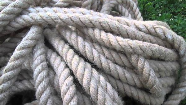 Канат джутовый для отделки срубов из бревен и бруса
